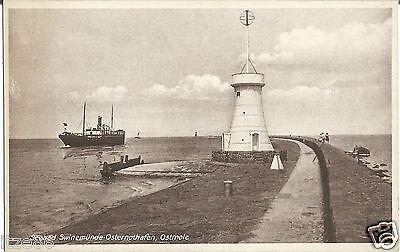 Schiff, Dampfer an der Ostmole, Swinemünde, Osternothafen, alte Ak um 1930