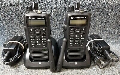 Motorola Xpr6550 Uhf Digital Dmr Mototrbo Set Of 2 Radios 430-470 Very Good