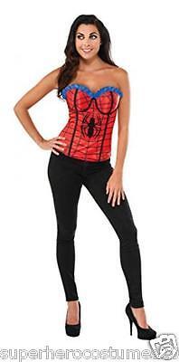 The Amazing Spider-Man Spider-Girl Bustier Corset Size Medium 6-10 New
