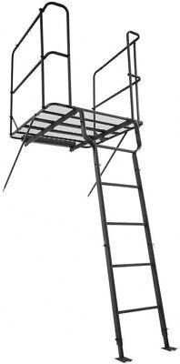 Hunter Adjustable Tree Stand Ladder 41 x 46 Platform Hunting