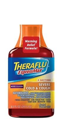 Theraflu ExpressMax Syrup for Daytime Severe Cold and Cough, Berry (Over The Counter Medicine For Cold And Cough)