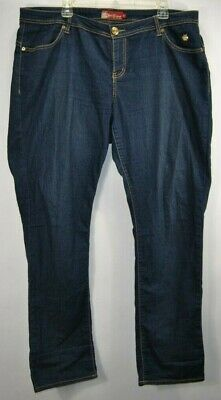 Apple Bottoms Womens Size 18  Blue Denim Jeans Embroidered Cotton Blend Apple Bottoms Denim