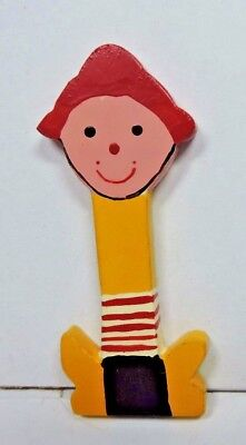 """New Child's Boy Girl Painted Whimsical Letter """" I""""  Red, Black, Yellow & White"""
