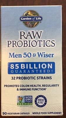 Garden of Life Raw Probiotics Men 50 & Wiser Sealed 90