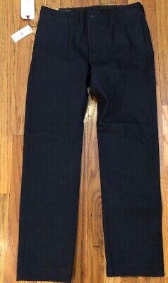 NWT RRL Ralph Lauren Double RL Indigo Rigid Raw Denim Herringbone Jeans 32 $340