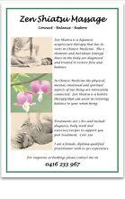 Zen Shiatsu Massage Therapy Alice Springs Alice Springs Area Preview