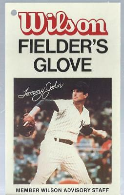 1980 Wilson Glove Tags Tommy John New York Yankees