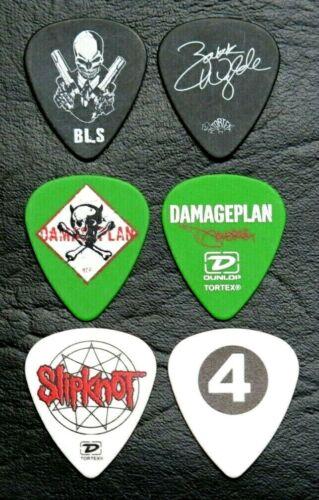 Black Label Society Zakk Wylde - Damageplan - Slipknot Guitar Pick Picks