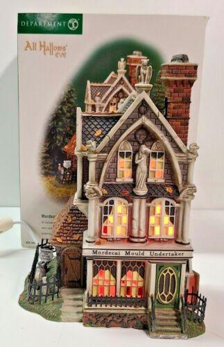 Dept 56 Snow Village Halloween Mordecai Mould Undertaker 56.58509