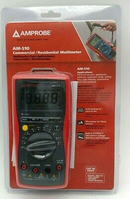 Amprobe Am-510 Commercialresidential Multimeter Non Contact Voltage Detection
