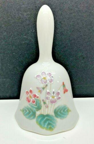 Vintage Otagiri Ceramic Embossed Violet Bell-Japan