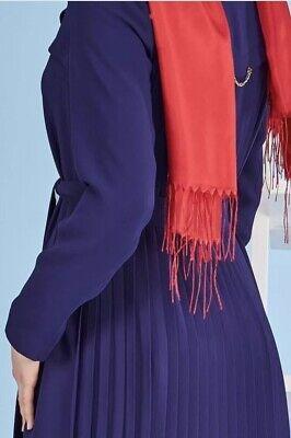 Alvina Women topcoat abaya Jilbab dress size 42 Navy Blue Color Dubai NWOT