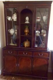 Display Cabinet-Mahogany
