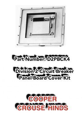 Cooper Crouse Hinds Div 2 Circuit Breaker Panel Cover Pn D2pbc K4 In Orig. Box