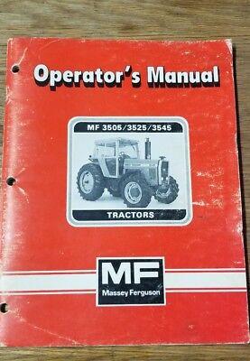 Massey-ferguson 350535253545 Tractors Operators Manual 1j-2050-x19