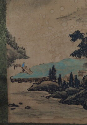 Chinese Antique Signed Scroll Painting Seal Mark: Hua Yan