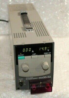 Kikusui Pan35-5a 0-35v 0-5a Regulated Dc Power Supply 606 H56