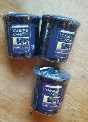 FALL SPECIAL! YANKEE CANDLE SET OF 3 VOTIVE CANDLES: BERRYLICIOUS (last lot)!