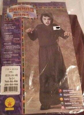 Rubie's Kids Horror Robe Scary Halloween Costume, Brown, For Age 3-4 Size 4-6 - Scary Costumes For Kid