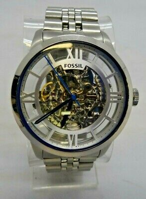 Fossil ME3044 Silver Tone Analog Men's Watch Size 7