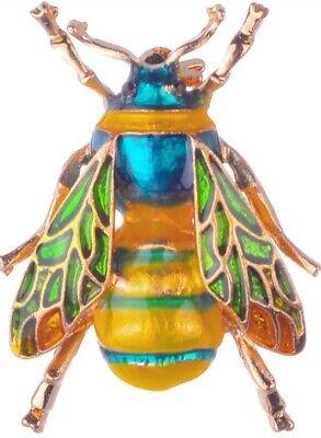 Rainbow Bee Vintage Gold Pin Brooch D-1369