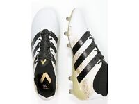 Adidas 16.1 primeknit gold/white/black size 10 perfect condition worn twice g