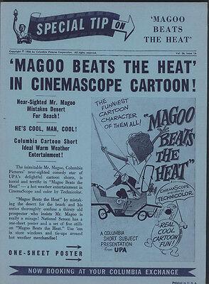 "1956 ""Magoo Beats The Heat"" Cartoon Adv Post Card"
