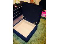Black cord sofa sofa bed foot stool