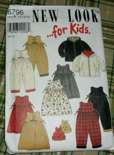 New Look 6796 Dress Romper Jacket size 1/2 -4 C&c
