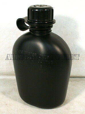 NEW, US MILITARY 1 QUART PLASTIC CANTEEN, Black