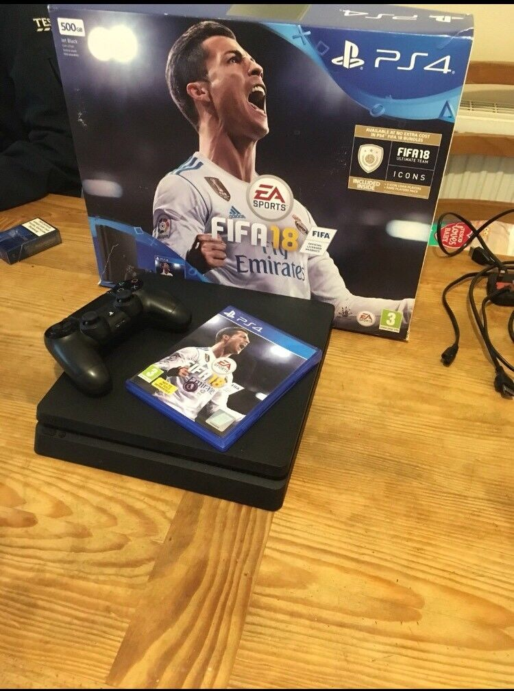 Ps4 500gb slim with Fifa 18