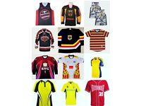 Sports wear, accessories, football kits, socks, jackets all kind