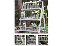 Rustic wedding display ladders