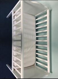 Small baby crib with mattress