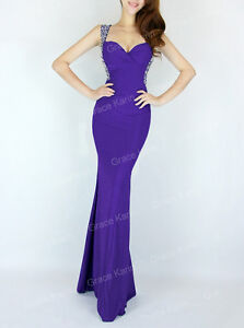 Sexy Backless Gown Evening Prom Party Long Bridesmaid Dress UK 6/8/10/12/14/16++