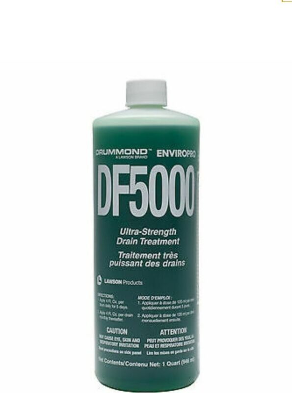 Drummond Enviropro DF 5000 Ultra Strength Drain Cleaner for Fruit Flies 1 Qt New