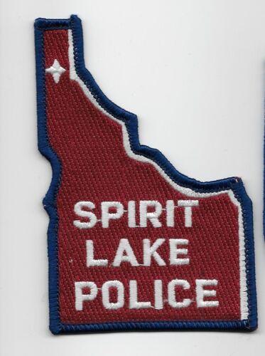 State Shaped Spirit Lake Police State Idaho ID patch