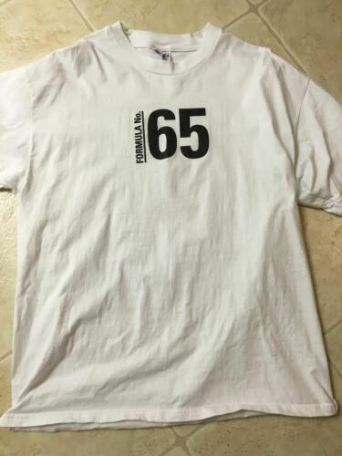 DUNLOP FORMULA #65 DOUBLE SIDED T-SHIRT, XL, NEVER WORN,LOGO ON BACK & VERY COOL