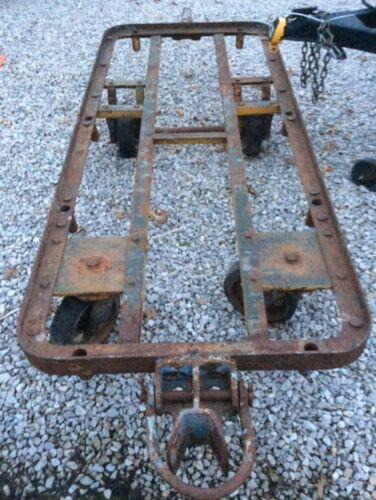 Vintage railroad warehouse cart