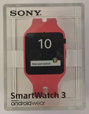 Sony SmartWatch 3 PINK SWR50 Android 4.3 NFC IP68 GPS SW3 Waterproof RETAIL Order off