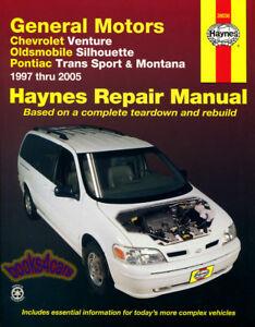 SHOP MANUAL SERVICE REPAIR BOOK HAYNES CHILTON VENTURE MONTANA SILHOUETTE TRANS