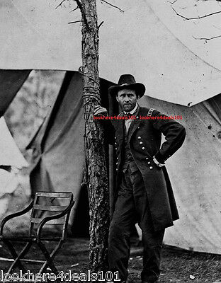PRESIDENT ULYSSES S. GRANT PHOTO 8x10 AMERICAN CIVIL WAR FREE SHIPPING
