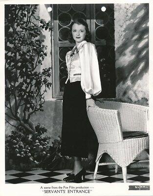 JANET GAYNOR Original Vintage 1934 Rene Hubert Fox Studio FASHION Portrait Photo