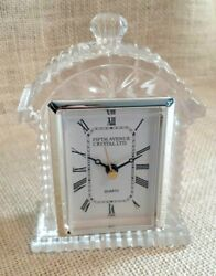 Fifth Avenue Crystal Decorative Clock 6 Battery Operated