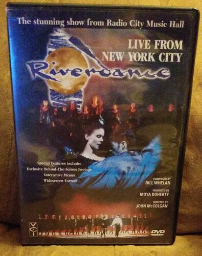 RIVERDANCE LIVE FROM NEW YORK CITY DVD 1998, CLOSED CAPTIONED MINT CONDITION - $8.90
