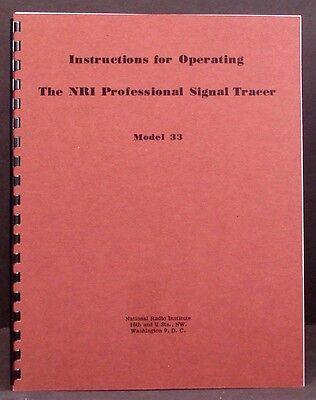Nri Model 33 Professional Signal Tracer Manual