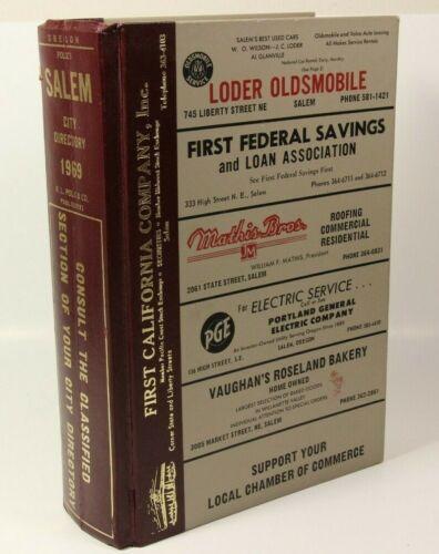 Vintage City Directory Book Salem Oregon 1969 Publisher Polk