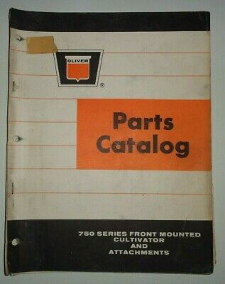 Oliver 750 Series Front Mounted Cultivator Parts Catalog Manual Book Original