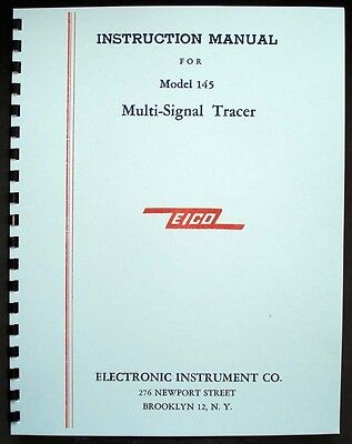 Eico Model 145 Signal Tracer Operating Manual
