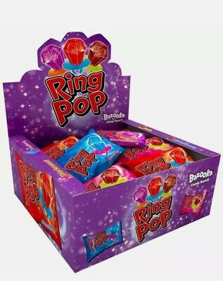 Bazooka Ring Pops Candy Ring Kids Sweets Full Box Of 24